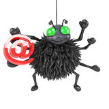 3d Spider has an email address Royalty Free Stock Images
