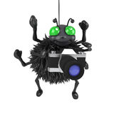 3d Spider has a new camera Royalty Free Stock Images
