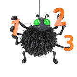 3d Spider learns how to count Stock Photo