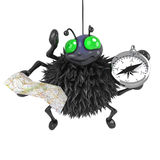 3d Spider is lost Royalty Free Stock Photography