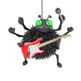 3d Spider plays electric guitar Stock Images