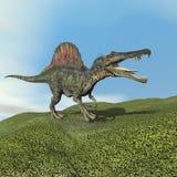 3D Spinosaurusdinosaurus - geef terug Royalty-vrije Stock Afbeelding