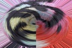 3D Spiraalvormige rand stromende vloeibare lijnen roteren stock illustratie