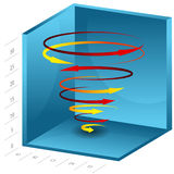 3d Spiral Growth Chart Stock Photo