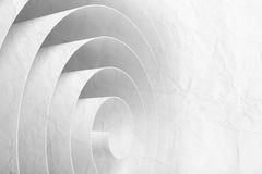 3d spiral made of paper tape with texture. 3d spiral made of paper tape with material texture, abstract digital illustration, background pattern Stock Photos
