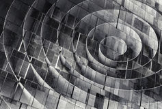 3d spiral over concrete wall texture, abstract Stock Photo