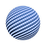 3d spiral stripes on a sphere Stock Image