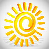 3d spiraling Sun vector. Eps 10 Vector Illustration of 3d spiraling Sun vector Royalty Free Stock Photo