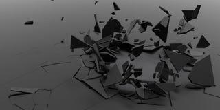 3D splittrar abstrakt tapetbakgrund Royaltyfri Bild