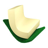 3D Sponge tear, Isolated. 3D Sponge tear on white background, Isolated Royalty Free Stock Images