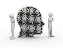 3d spora konfliktu labiryntu ludzkiej głowy ludzie Zdjęcie Royalty Free