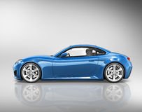 3D Sport Car Vehicle Transportation Illustration Concept Stock Photography