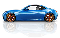 3D Sport Car Vehicle Transportation Illustration Concept.  Royalty Free Stock Photo