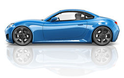 3D Sport Car Vehicle Transportation Illustration Concept Royalty Free Stock Images