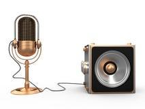 3D spreker en microfoon, Stock Afbeeldingen