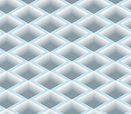 3D Square Box Net, Vector Seamless Pattern. Royalty Free Stock Photos