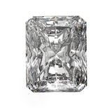 3d Square cut diamond on white. Concept Stock Photos