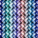 3d square mosaic seamless pattern. Royalty Free Stock Photos