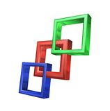 3D Squares. 3D illustrations of squares on a plain background Royalty Free Stock Image