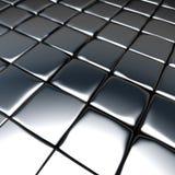 3d srebra chrom brukuje dachówkowego tło Fotografia Stock