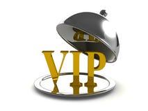 3d srebra taca z VIP głównym kursem Zdjęcia Stock