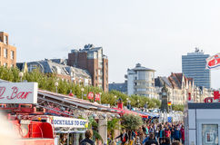Düsseldorf Atlstadt.Die shore promenade Stock Image