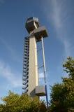 DÃ ¼ sseldorf Intarnational - de Nieuwe Toren van de Controle Royalty-vrije Stock Afbeeldingen