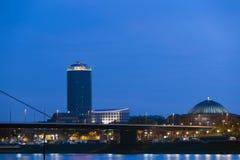 Düsseldorf at Night Stock Photography