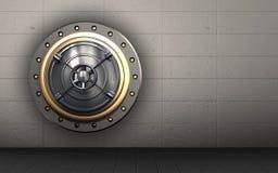 3d stängd stängd bankdörr för bank dörr royaltyfri illustrationer