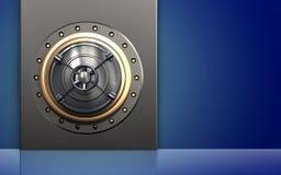 3d stängd stängd bankdörr för bank dörr Royaltyfri Bild