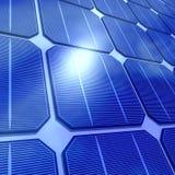 3d stänger sig upp av sol- celler royaltyfri illustrationer