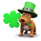 3d St Patricks puppy Royalty Free Stock Photography