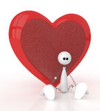 3d St. Valentine's Day. Festival of happiness and love for all Royalty Free Stock Photography