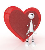 3d St. Valentine's Day. Royalty Free Stock Photos