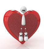 3d St. Valentine's Day Royalty Free Stock Photo