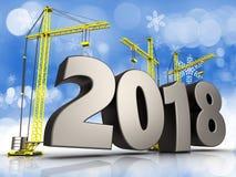 3d staal 2018 teken Stock Afbeelding