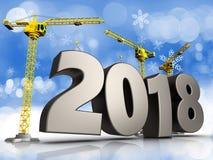 3d staal 2018 teken Stock Foto's