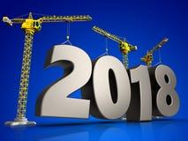 3d staal 2018 teken Stock Afbeeldingen