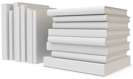 3d stack of blank books. On white background Royalty Free Stock Photos
