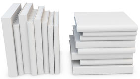 3d stack of blank books Stock Photography