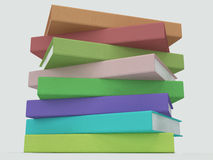 3D stack of books Stock Images