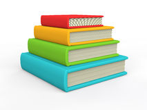 3d stack of books. 3d render of stack of books Royalty Free Stock Photos