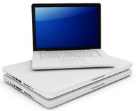 3d stack of Laptops Royalty Free Stock Image