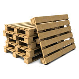 3d Stack of pallets Royalty Free Stock Images