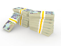 3d stack of UAE 500 dirhams currency Royalty Free Stock Image