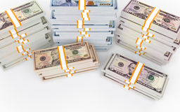 3d stacks of dollar money Royalty Free Stock Photography