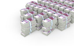 3d stacks of euro cash Stock Photo