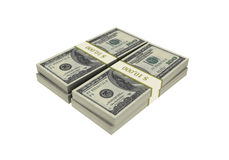 3D Stacks of Hundred US Dollars Stock Images