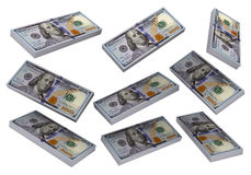 3D Stacks of Hundred US Dollars Royalty Free Stock Photography