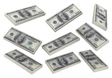 3D Stacks of Hundred US Dollars Royalty Free Stock Image